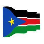 Waving flag of South Sudan