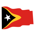 Waving flag of East Timor