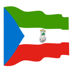 Waving flag of Equatorial Guinea