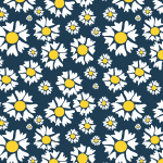 White flowers seamless pattern
