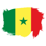 Senegal flag white background