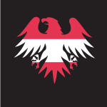 Republic of Austria flag heraldic eagle