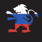 Russian flag lion silhouette