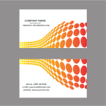 Business card template halftone pattern