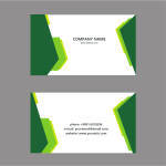 Business card template green theme