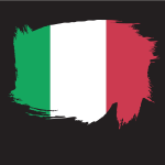 Painted flag of Italy