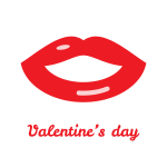 Valentine day lips