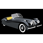 Photo-realistic vintage car vector clip art