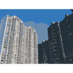 Beijing housing estate vector clip art