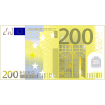 Two hundred Euro note vector clip art