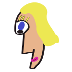 Caricature woman head