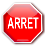 Quebec roadsign for STOP (ARRET) vector drawing