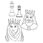 King and queen in chess