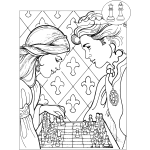 Chess in coloring book