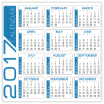 2 Calendar white and blue by DG RA