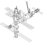 International Space Station vector drawing