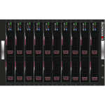 Server centre rack vector image