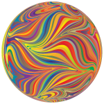 Sphere with chromatic pattern