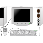 Set-up computer vector clip art