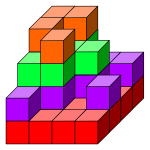 Differently colored cubes