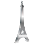 3D Eiffel Tower Silhouette