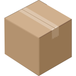 Isometric cardboard box