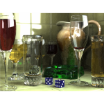 3D Rendered Wine Glasses