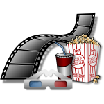 Ready for 3D cinema movie vector image