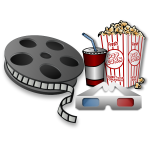 3D movie equipment vector image