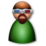 3d Glasses avatar vector image