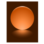 3 Orange Sphere Blurred Reflection