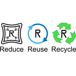 Vector image of recycling labels