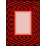 Red checked Frame