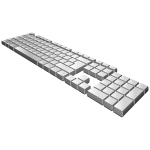 Blank gray keyboard vector image