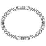 4-plait border oval