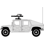 Vector graphics of military car