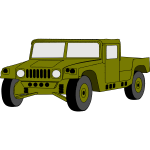 Vector clip art of hummer military vehicle