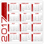 4 Calendar white and red version 2 by DG RA