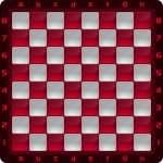 4 Chessboard Color Rojo Clipart by DG RA