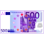 Five hundred Euro note vector graphics