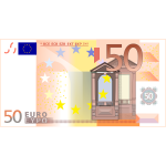 Vector image of 50 Euro banknote