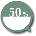 50 percent price label vector image