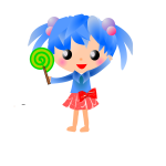 Manga girl with lolipop