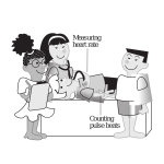 Vector image of kids playing doctors