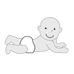 Vector image of baby crawling