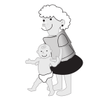 Mother holding a baby vector image