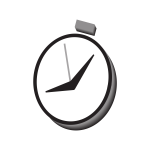Vector image of timer watch