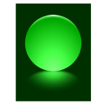 5 Green Sphere Blurred Reflection