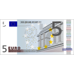 Vector image of 5 Euro banknote