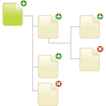 Vector image of file structure diagram